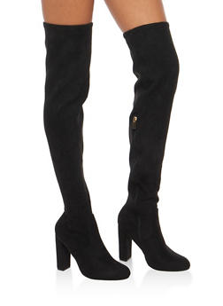 Over the Knee High Heel Boots - BLACK F/S - 3113004065484