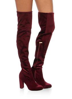 Over the Knee High Heel Boots - 3113004065484