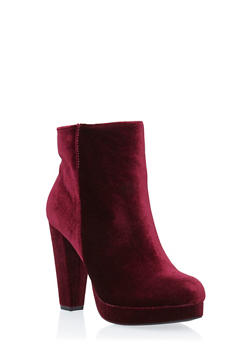 Platform Ankle Boots with Round Toes - 3113004067948