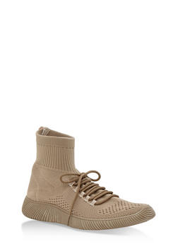 Tubular Sock Knit High Top Sneakers - 3114004063679