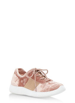 Crushed Velvet Athletic Sneakers - 3114004063682