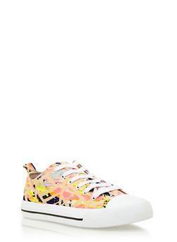 Knit Sneakers with Cap Toe - TAN MULTI - 3114004068255