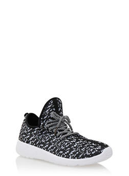 Knit Sneakers with Extended Tongue - 3114004068744