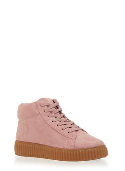 High Top Creepers with Ribbed Outsoles - 3114029917362