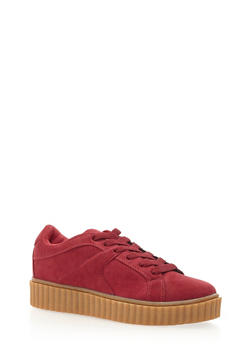 Faux Suede Creepers - 3114029917399