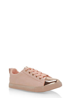 Patent Toe Lace Up Sneaker - 3114062725493