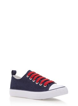 Low Top Sneakers with Rubber Sole - 3114062725497