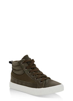 High Top Lace Up Padded Sneaker - 3114073323729