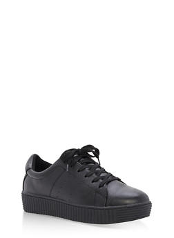 Lace Up Creeper Sneaker - 3114073541754