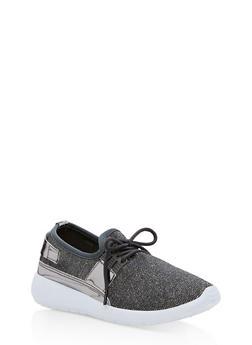 Mirrored Metallic Strap Sneakers - 3114073541781