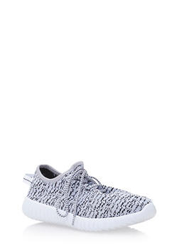 Knit Sneakers with Ribbed Outsoles - 3114073545374