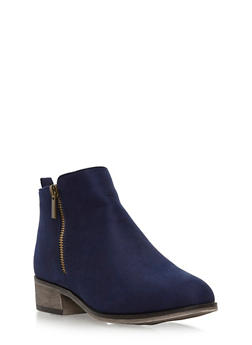 Side Zip Booties - 3116004067251