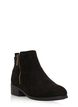 Side Zip Booties - BLACK F/S - 3116004067251