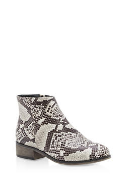 Pointed Toe Booties - SNAKE - 3116004067256