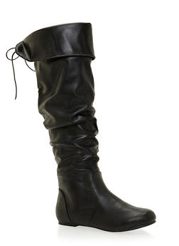 Slouchy Knee High Boots - 3116014067924