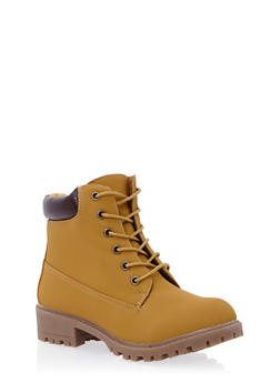 Lace Up Ankle Boots - 3116057181666
