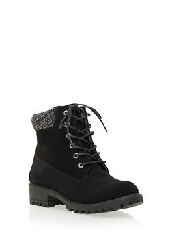 Work Boots with Sweater Collar - 3116057181668