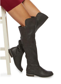Over The Knee Boots in Faux Leather - 3116065488363