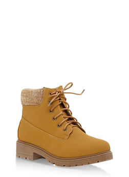 Work Boots with Padded Collar - WHEAT NUBUCK - 3116073541761