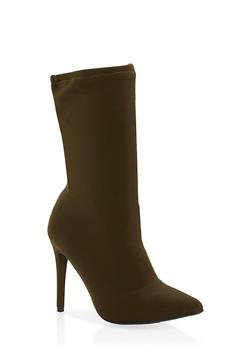 Stretch High Heel Booties - 3118004063334