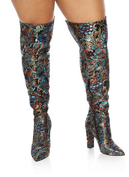 Thigh High Pointed Toe High Heel Boots - 3118004066234