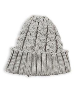 Heavy Knit Beanie - SILVER - 3119041657066