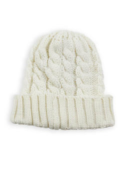 Heavy Knit Beanie - WHITE - 3119041657066