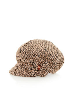 Paperboy Cap with Bow - BROWN - 3119041657369
