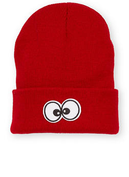 Beanie Hat with Eyes Patch - BURGUNDY - 3119041658674