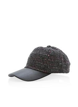 Stitched Woven Baseball Hat - 3119041659210