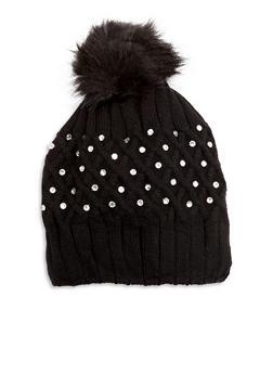 Pom Pom Cross Stitch Hat - 3119042741722