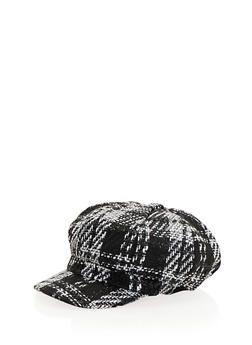 Knit Paperboy Cap in Plaid - 3119067444612