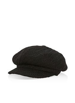 Woven Newsboy Cap - BLACK - 3119067447112