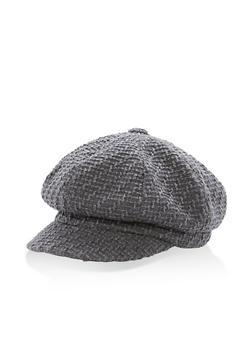 Woven Newsboy Cap - GREY - 3119067447112