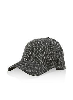 Tweed Baseball Hat - 3119067447135