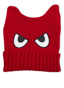 Animal Ears Beanie Hat with Eyes - 3119072340733