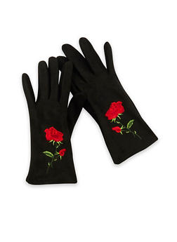 Rose Embroidered Gloves - 3121041651199