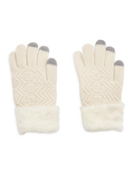 Fuzzy Cuffed Gloves - 3121042740001
