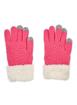 Fuzzy Cuffed Gloves - 3121042740001