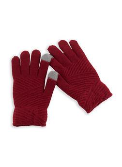 Zig Zag Knit Gloves - 3121042740011