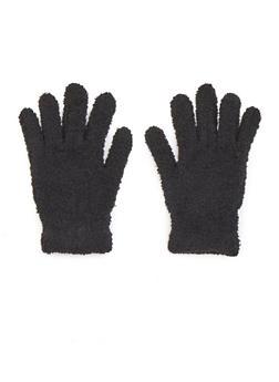 Plush Gloves - BLACK - 3121067442600