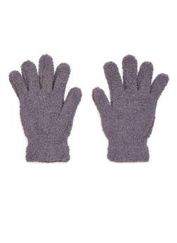 Plush Gloves - GRAY - 3121067442600