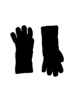Gloves with Convertible Patterned Cuffs - BLACK - 3121067442604
