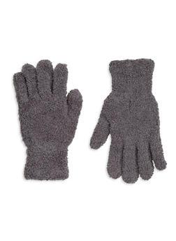 Fuzzy Knit Gloves - GREY - 3121067442700