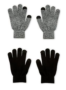 Set of 2 Gloves - BLACK MYLARD - 3121067442701