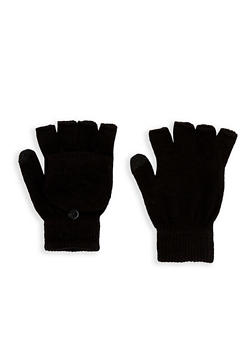 Convertible Mittens - BLACK - 3121067442702