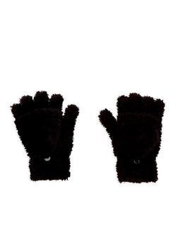 Fuzzy Convertible Mittens - 3121067442703