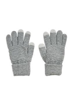 Waffle Knit Gloves - GREY - 3121067442704