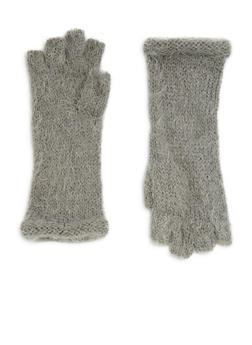 Fingerless Soft Knit Gloves - 3121067442706