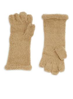Fingerless Soft Knit Gloves - 3121067442706